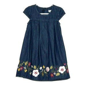 Artisan NY Denim Dress Floral Embroidery